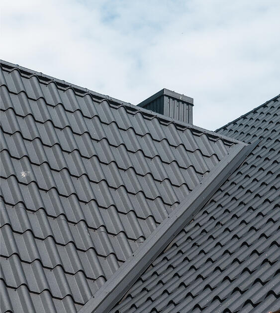 gray tile roofing