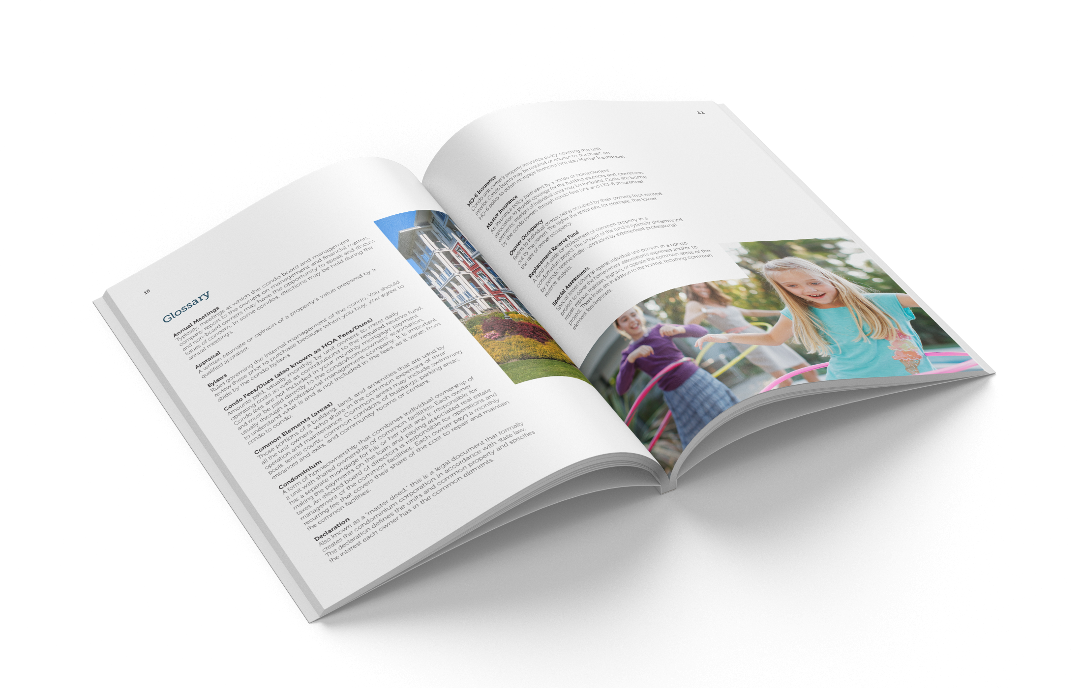 Open booklet with text and pictures